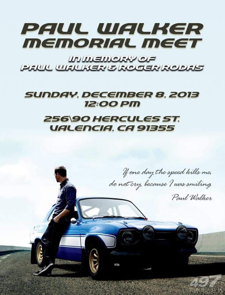 Paul Walker Memorial Meet