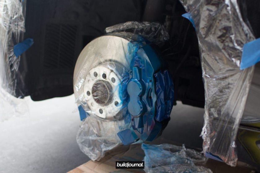 "Brake Caliper Paint DIY to BMW M Sport ""Blue"""