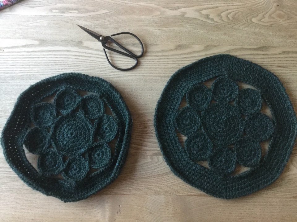 Difference in blocking your crochet place mats