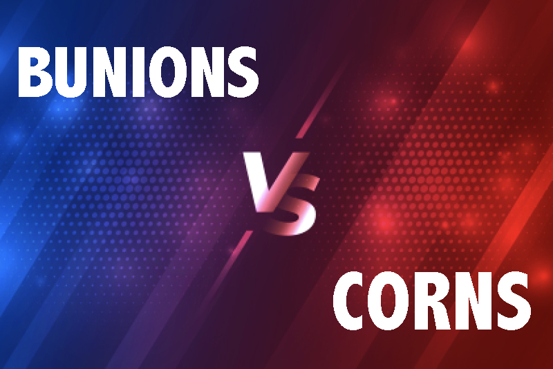 bunions vs corns