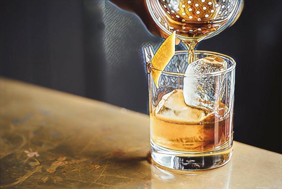 Mosaic Whiskey Glass