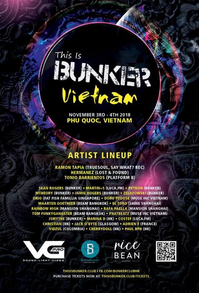 Bunker Vietnam Line Up