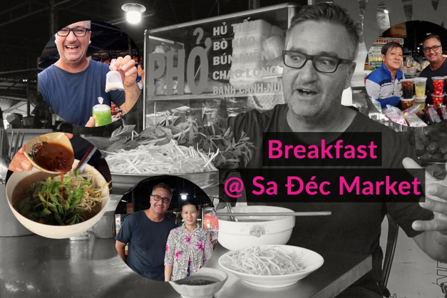 This Vietnam Motorbike Road Trip To Sadec Begins With Breakfast At The Central Market [Video]