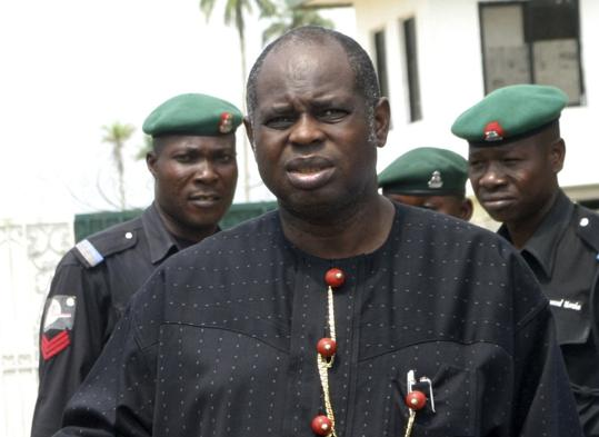 Gov. Diepreye Alamieyeseigha, who was convicted of stealing millions receives pardon from Nigerian President Goodluck Jonathan.