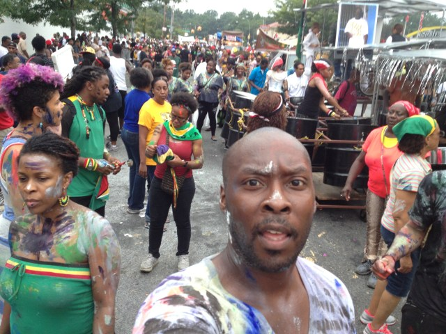 Antonio Lyons selfie at New York's Jouvert celebration.  (Photo Credit: Antonio Lyons)