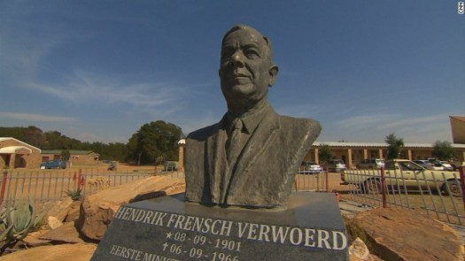 A bust of Hendrick Verwoerd, the assassinated prime minister considered the architect of apartheid, greets visitors upon entry. (Photo Credit: CNN)
