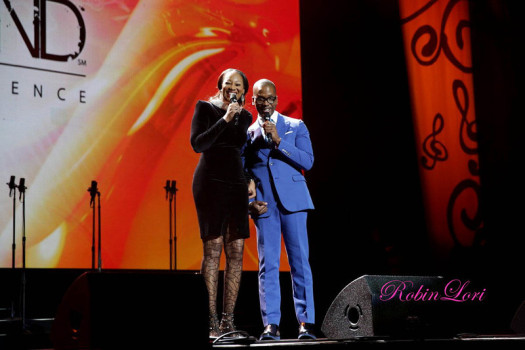 Gospel artists Yolanda Adams and Donald Lawrence co-host the sixth installment of Verizon's How Sweet the Sound gospel celebration.  (Photo Credit: Robin Walker Marshall)