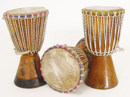 African drums.