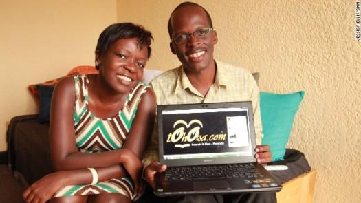 Siblings Chance Tubane and Patience Nduwawe are the founders of Tohoza, Rwanda's 'Craigslist'.  (Photo Credit: CNN)