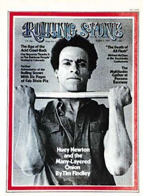 Black Panther founder Huey P. Newton appears on the August 1972 cover of Rolling Stone magazine.  (Photo Credit: Rolling Stone)