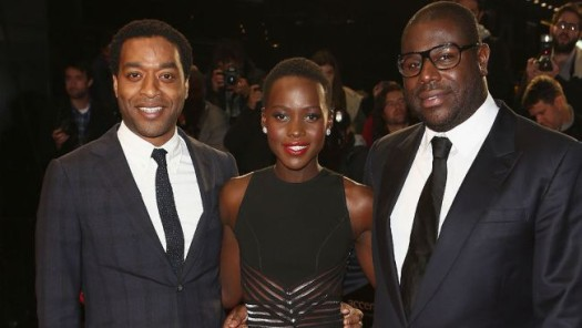 Actors Chewitel Ejiofor, Lupita Nyong'o and Director Steve McQueen of the film '12 Years a Slave'.  (Photo Credit: Google Images)