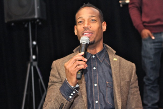 Marlon Wayans discusses his film 'A Haunted House 2' opening in theaters April 18.  (Photo Credit: Joi Pearson)