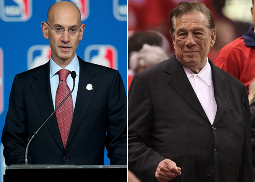 NBA commissioner Adam Silver and ousted L.A. Clippers owner Don Sterling. (Photo Credit: Google Images)