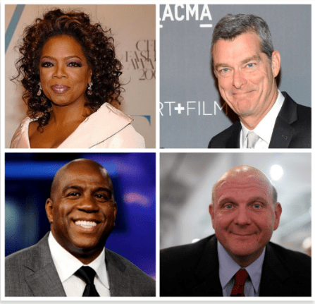 Oprah Winfrey, Antony Ressler, Magic Johnson and Steve Ballmer are engaged in a bidding war for the embattled L.A. Clippers. (Photo Credits: Google Images)