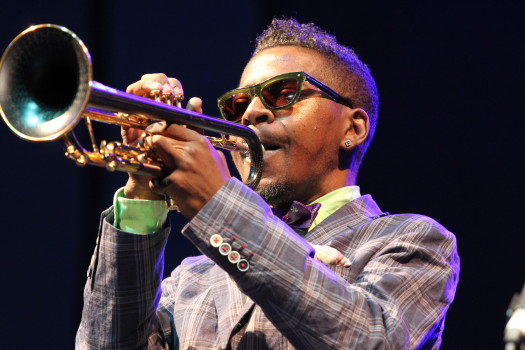 Grammy award-winning trumpeter Roy Hargrove plays at Atlanta Jazz Festival. (Photo Credit: Robb D. Cohen)