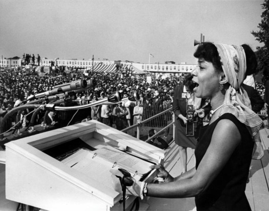Legendary actress Ruby Dee at the 1963 March on Washington. (Google Images)