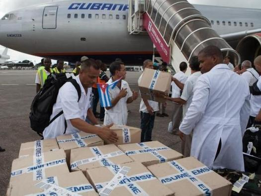 Cuban doctors arrive in Sierra Leone to aid in the fight against Ebola. (Photo Credit: Digital Journal)