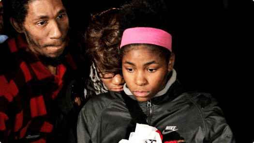 The family of Tamir Rice at a press conference. (Google Images)