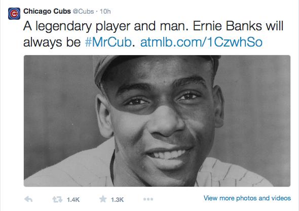Ernie Banks Twitter
