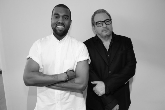 Kanye West and French designer Jean Touitou. (Photo Credit: Google Images)