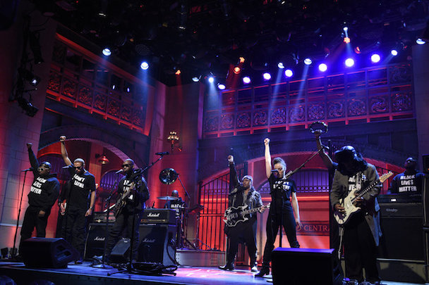 D'Angelo and The Vanguard appear on Saturday Night Live.  (Photo Credit: NBC)