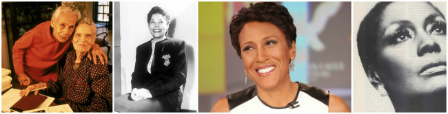 The Delany Sisters, Ann Petry, Robin Roberts and Shirley Verett.  (Photos: Google Images)