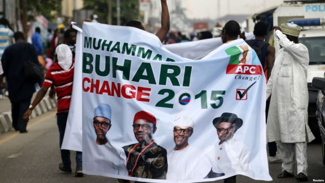 Buhari supporters carry sign.  (Photo: Google Images)