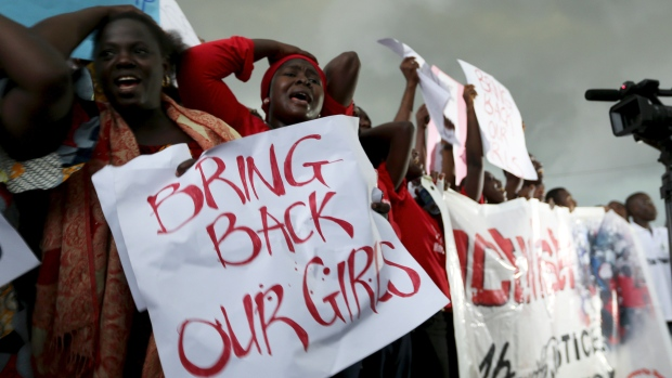 Protesters gather in Abuja to protest the abduction of 200 girls in April 2014.  (Photo: Google Images)