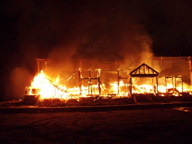 The Macedonia Church of God in Christ in Springfield, Mass., was set ablaze after the election of President Barack Obama, the nation's first black president in 2008. (Photo: Google Images)