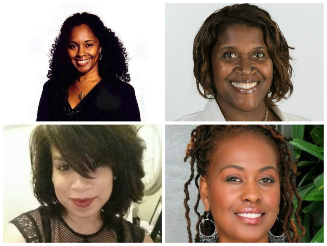 Cathleen Dean (l top), S. Lizabeth Martin (r top),  Grace M. Castro (l ) and Yvonne McCormack (r) are women leading the film festival movement in South Florida.   (Photos: LinkedIn, Facebook and Google Images)