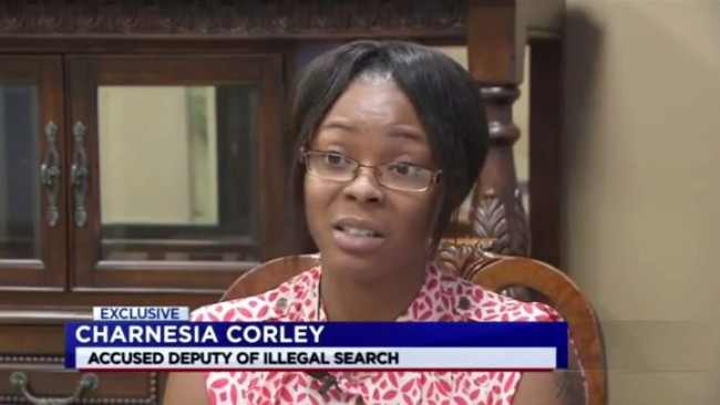 Charnesia Corley says she was illegally searched by police officers. (Photo: Google Images)