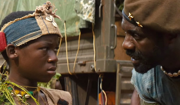 Idris Elba and Abraham Attah star in Beasts of No Nation, a Netflix original film. (Photo: Google Images)
