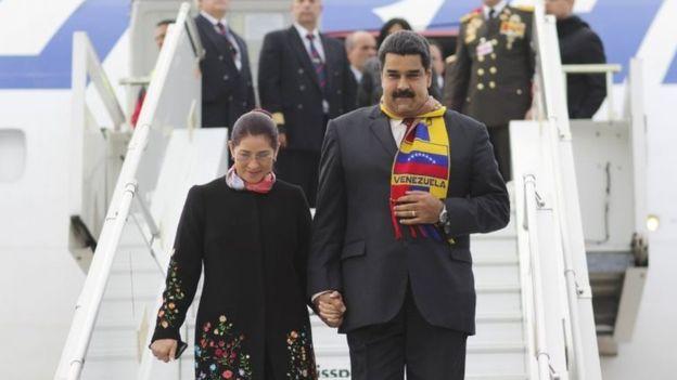 Venezuelan president Nicolas Maduro and wife Cilia Flores. (Photo: Google Images)