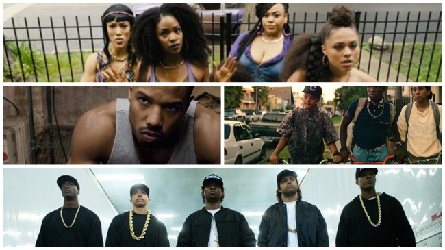 Chi-Raq, Creed, Dope and Straight Outta Compton were winners at the 2015 African-American Film Critics Association Awards. (Photos: YouTube/Google)
