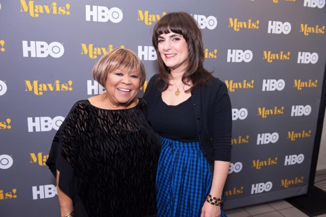 Legendary Grammy-winning vocalist and civil rights advocate Mavis Staples (l.) poses with 'Mavis!' director/producer Jessica Edwards (r.) (Photo courtesy of Mavis - A Documentary Official Facebook page).
