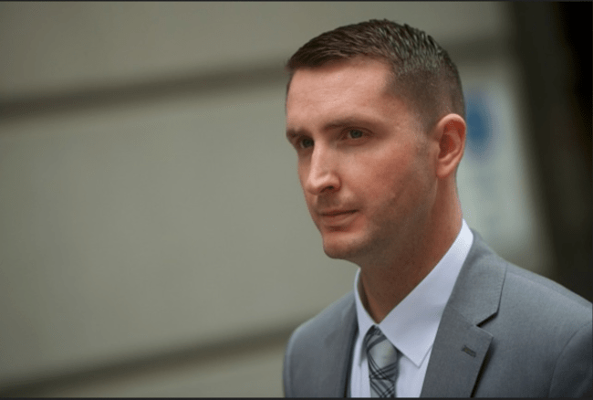 Baltimore Police Officer Edward Nero is acquitted of charges related to the death of Freddie Gray. (Photo: Screen capture)