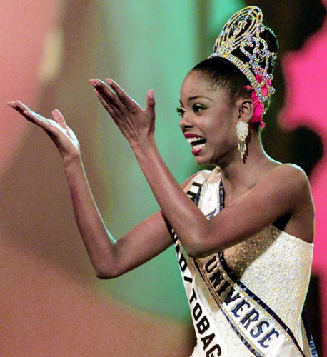 1998 Miss Trinidad & Tobago and Miss Universe, Wendy Fitzwilliam. (Google Images)