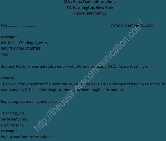 Negative response to business status inquiry letter overview of negative response to business status inquiry letter overview of inquiry letter altavistaventures Choice Image