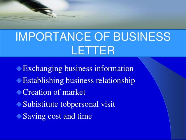 Importance of Business Letter