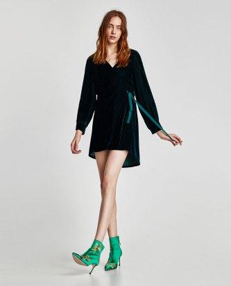 Velvet Dress with Hood, Zara $69.90