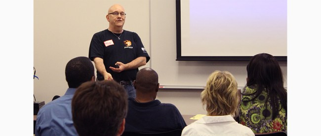 Steve Speaking at PodCamp Philly 2015. Photo courtesy of Seth Goldstein.