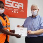 SGA Security Awards Female Guards For Being Vigilant In Fighting Covid-19