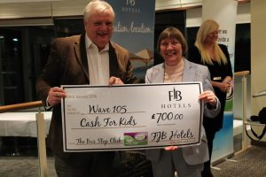 Susan receiving cheque from cash 4 kids