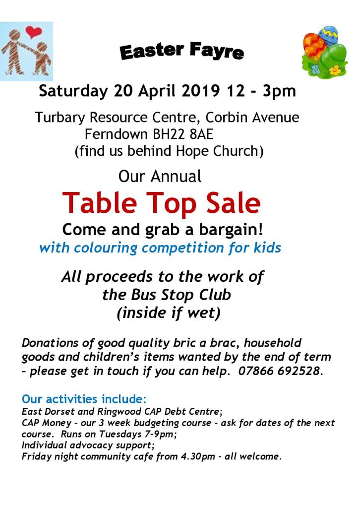 Easter Fayre at the Bus Stop Club