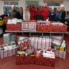 hampers packed and waiting for collection
