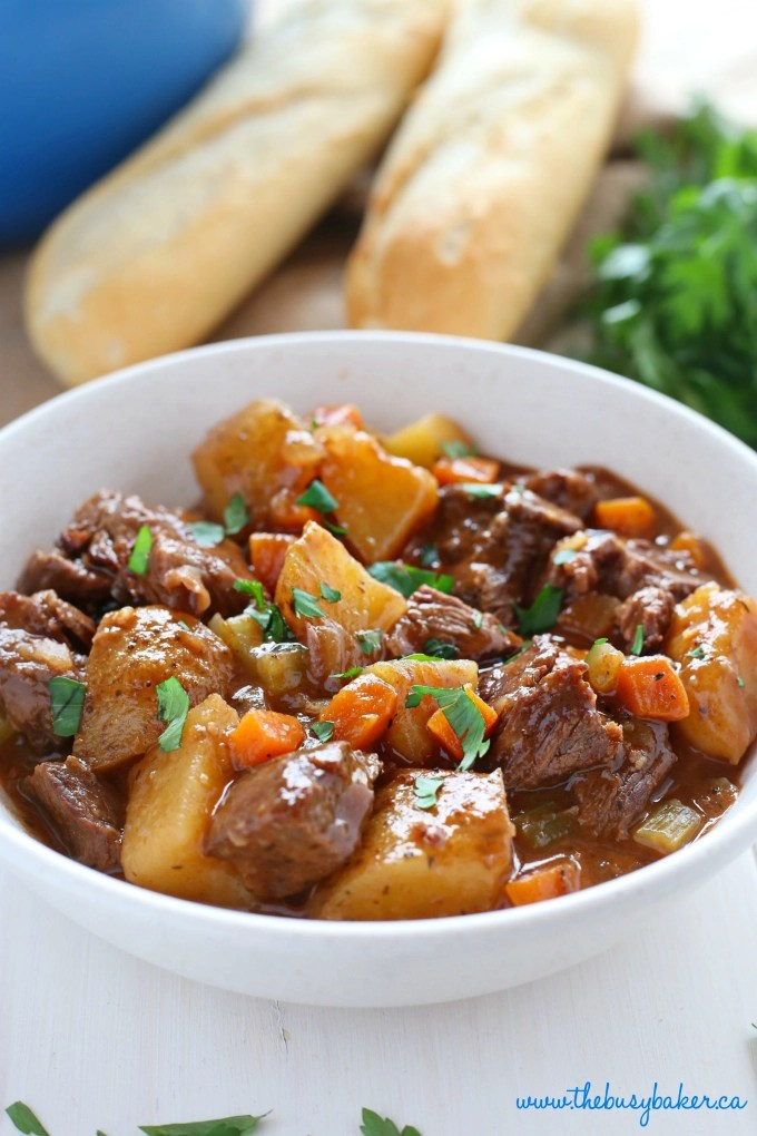 Best Ever One Pot Beef Stew - The Busy Baker