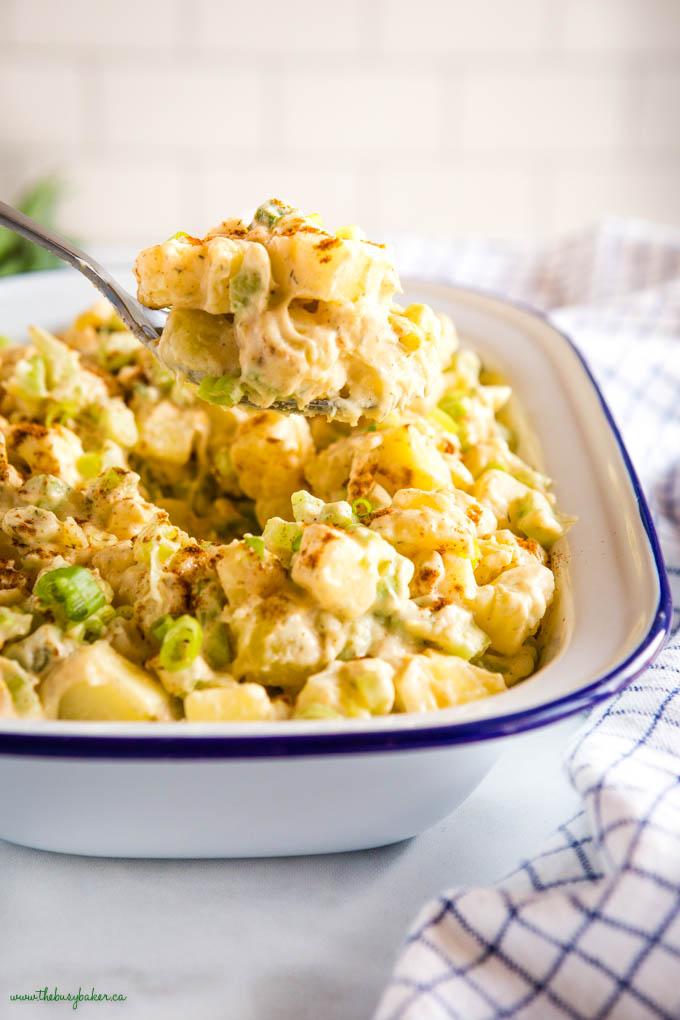 spoonful of easy potato salad