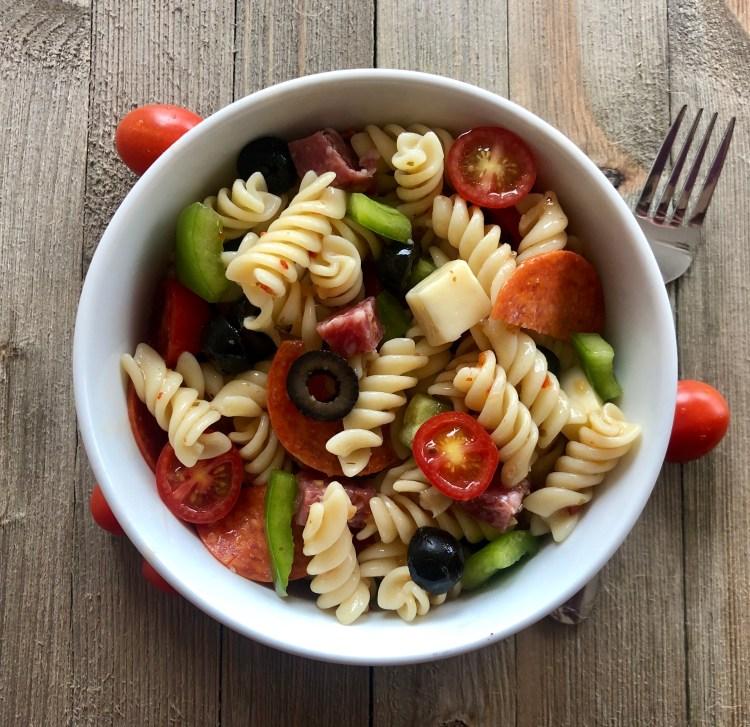 Italian Pasta Salad is an easy light and fresh salad