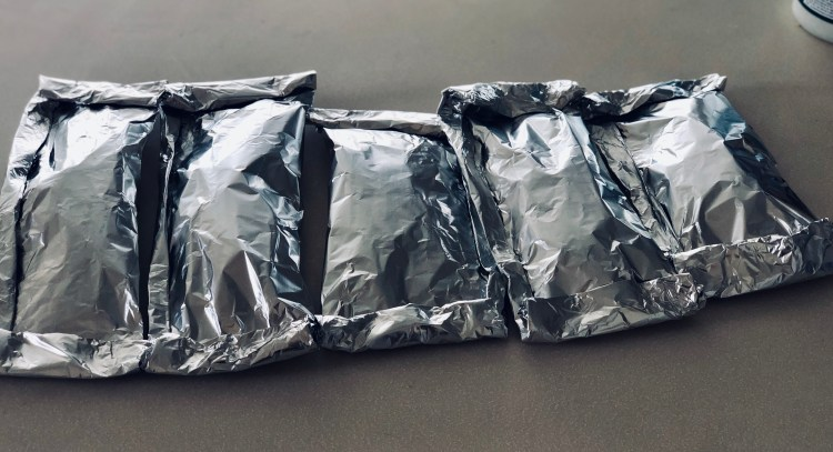 Fajita foil packets- easy dinner