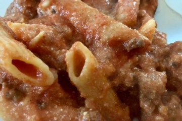 easy one pot slow cooker penne pasta